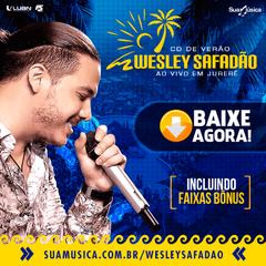 Capa do CD Wesley Safadão - Ao vivo em Jurerê - Cd de Verão 2016
