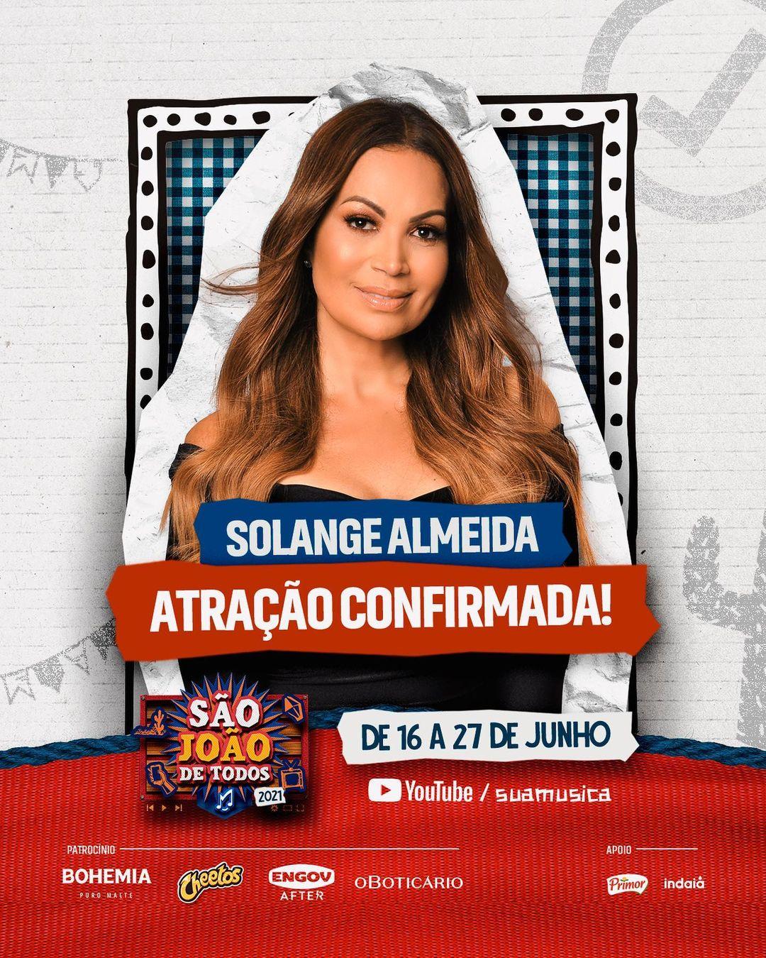 Solange Almeida abrilhanta o São João de Todos pelo segundo ano