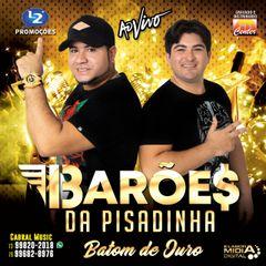 Capa do CD OS BARÕES DA PISADINHA AO VIVO BATOM DE OURO
