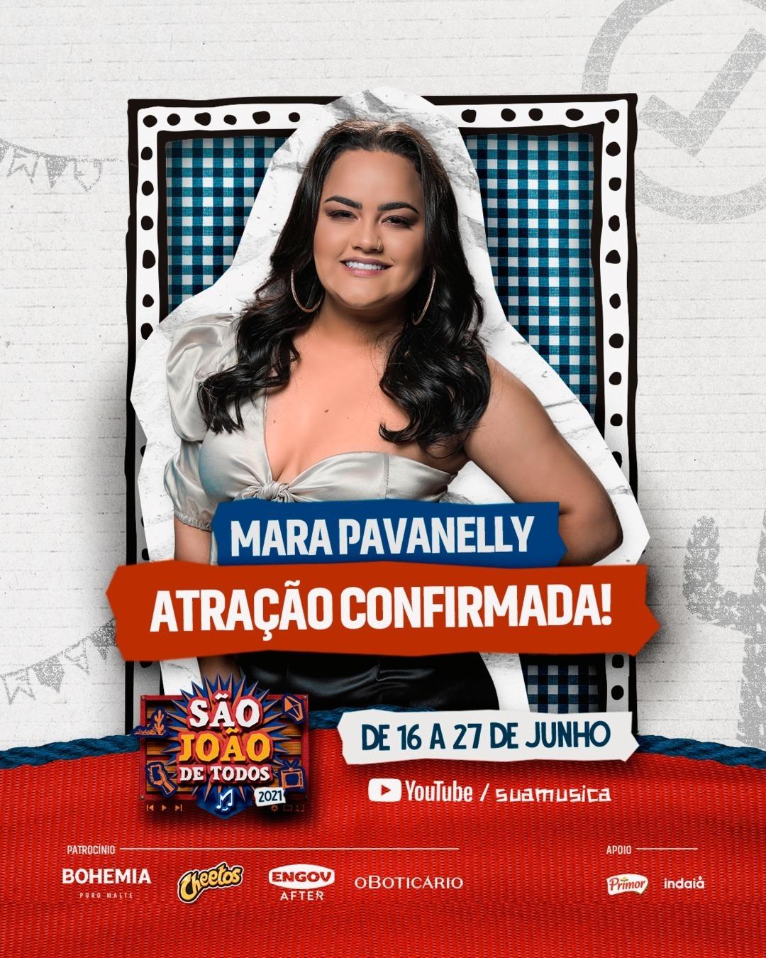 Mara Pavanelly canta seus sucessos no São João de Todos