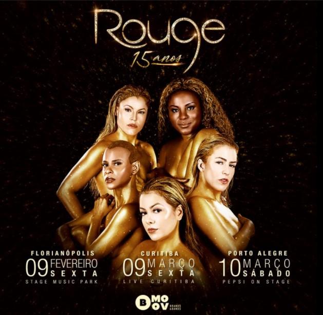 Rouge anuncia turnê em mais três capitais brasileiras